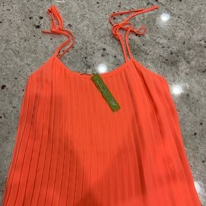 NWT.Emma blouse. Neon sunset. Dry clean only